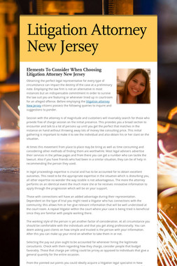Litigation Attorney New Jersey