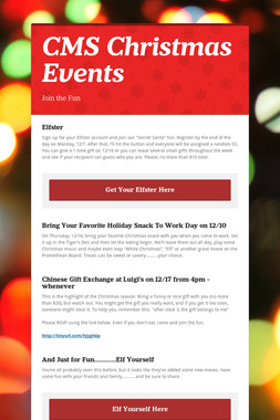 CMS Christmas Events