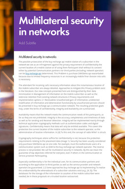 Multilateral security in networks