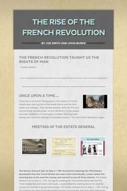 The Rise Of The French Revolution