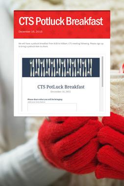 CTS Potluck Breakfast