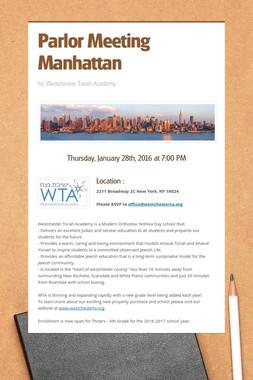 Parlor Meeting Manhattan