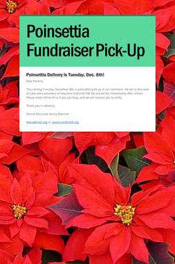 Poinsettia Fundraiser Pick-Up