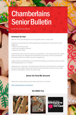 Chamberlains Senior Bulletin
