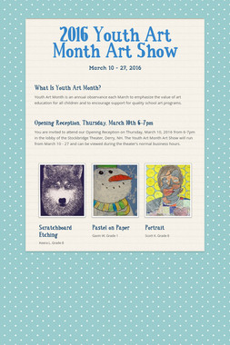 2016 Youth Art Month Art Show