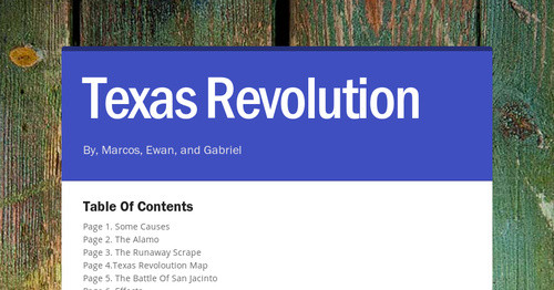 Texas Revolution Smore Newsletters