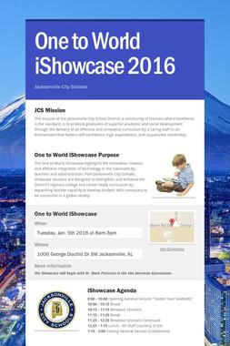 One to World iShowcase 2016