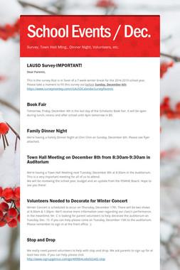 School Events / Dec.
