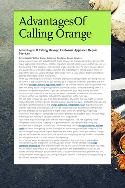 AdvantagesOf Calling Orange