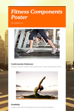 Fitness Components Poster