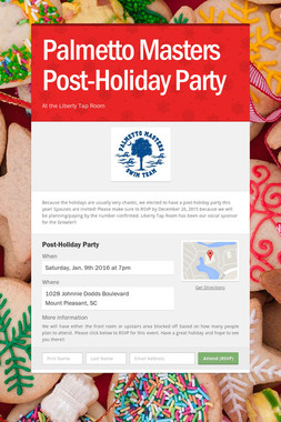 Palmetto Masters Post-Holiday Party