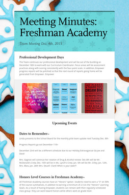 Meeting Minutes: Freshman Academy