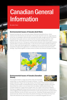 Canadian General Information