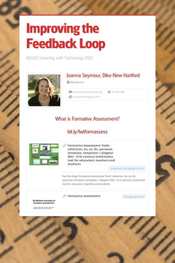 Improving the Feedback Loop