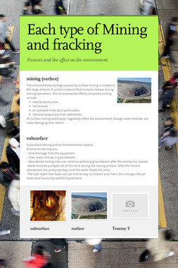 Each type of Mining and fracking