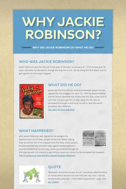 Why Jackie Robinson?
