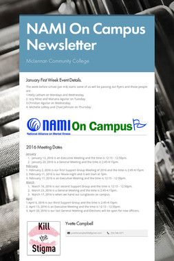 NAMI On Campus Newsletter