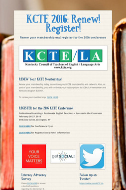 KCTE 2016: Renew! Register!