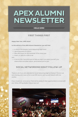 APEX Alumni Newsletter