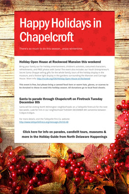 Happy Holidays in Chapelcroft