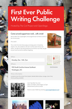 First Ever Public Writing Challenge