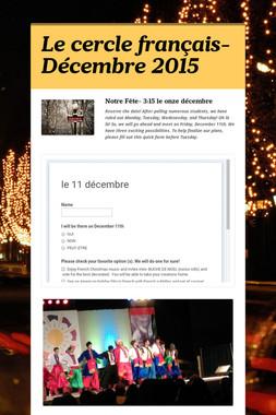 Le cercle français- Décembre 2015
