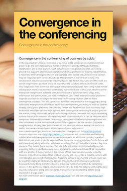 Convergence in the conferencing
