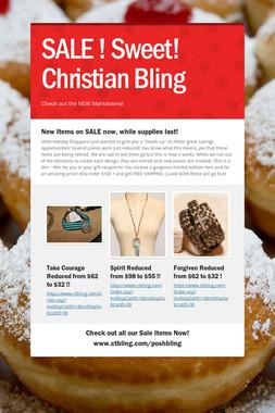 SALE !  Sweet! Christian Bling