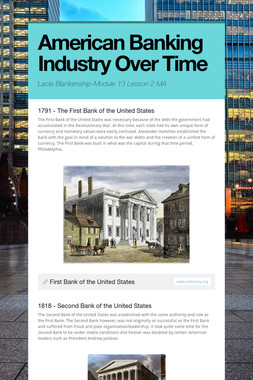 American Banking Industry Over Time