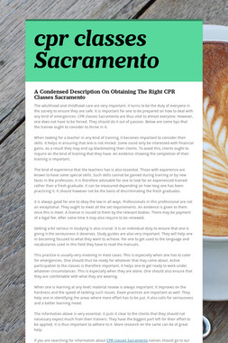 cpr classes Sacramento