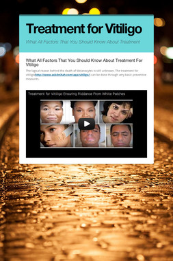 Treatment for Vitiligo