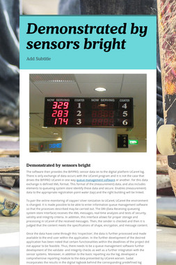 Demonstrated by sensors bright