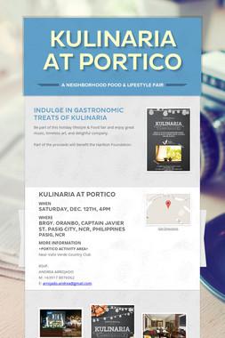 KULINARIA at Portico
