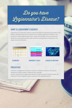 Do you have Legionnaire's Disease?
