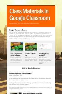 Class Materials in Google Classroom