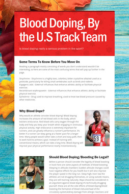 Blood Doping, By the U.S Track Team