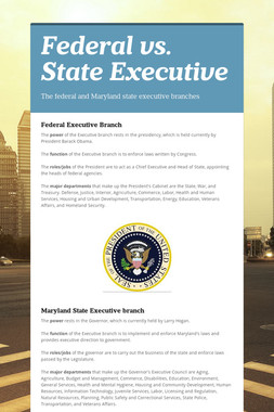 Federal vs. State Executive