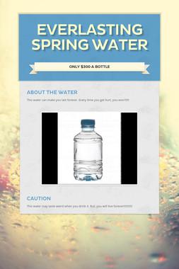 Everlasting Spring Water