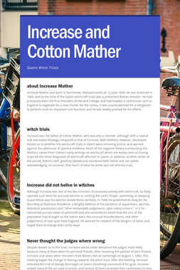 Increase and Cotton Mather