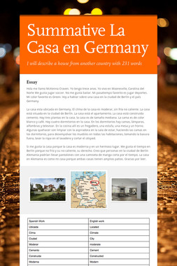 Summative La Casa en Germany