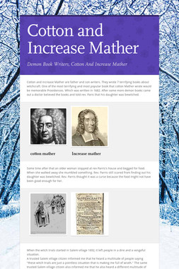 Cotton and Increase Mather