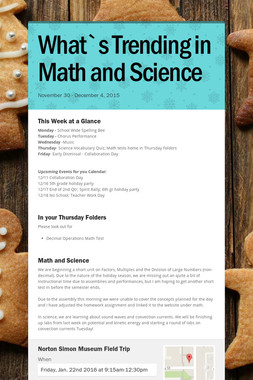 What`s Trending in Math and Science
