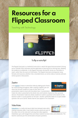 Resources for a Flipped Classroom