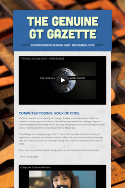 The Genuine GT Gazette