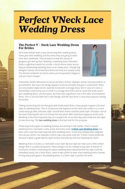 Perfect VNeck Lace Wedding Dress