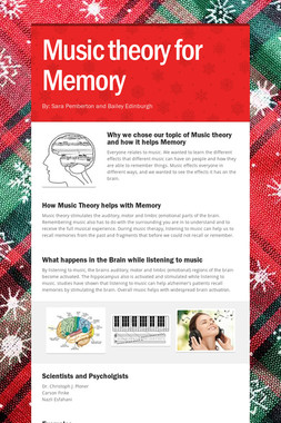 Music theory for Memory