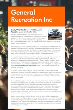 General Recreation Inc