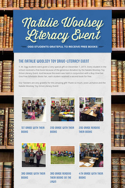 Natalie Woolsey Literacy Event