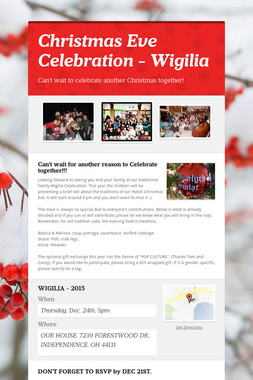 Christmas Eve Celebration - Wigilia