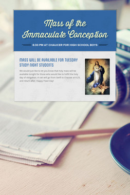 Mass of the Immaculate Conception